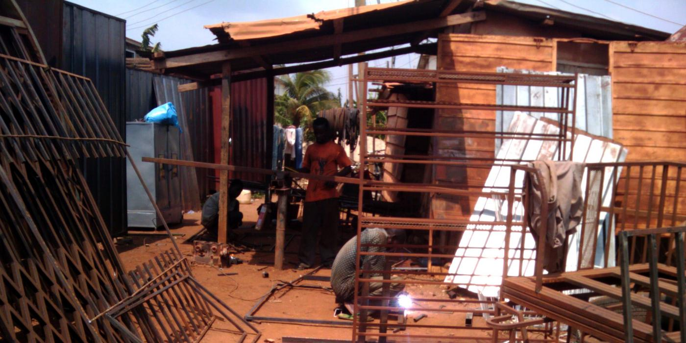 Fabricators that squat alongside Tema's roads are sites of local production and innovation