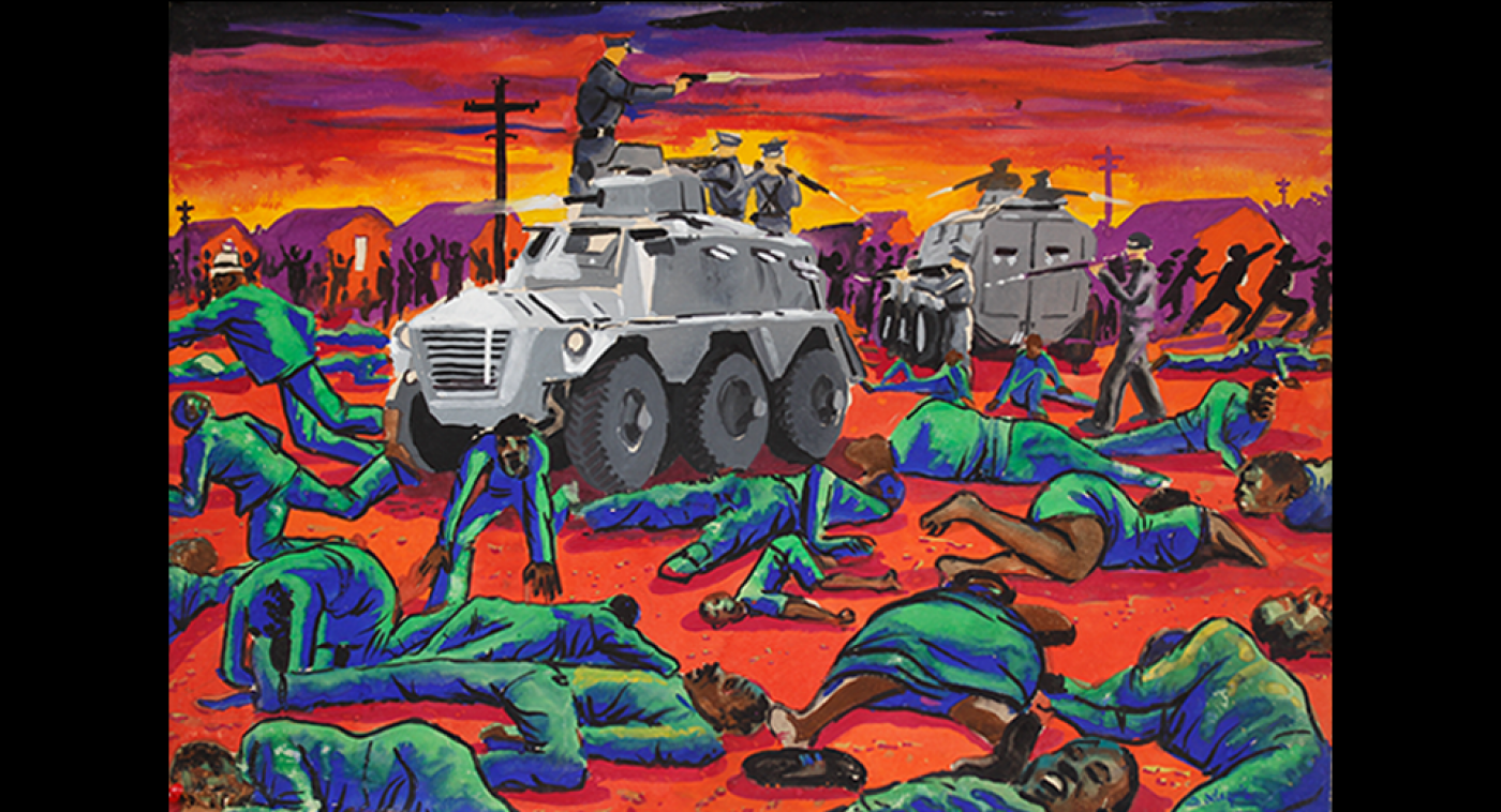 Sharpeville Massacre (Gouache on Paper), Ato Delaquis, 1966